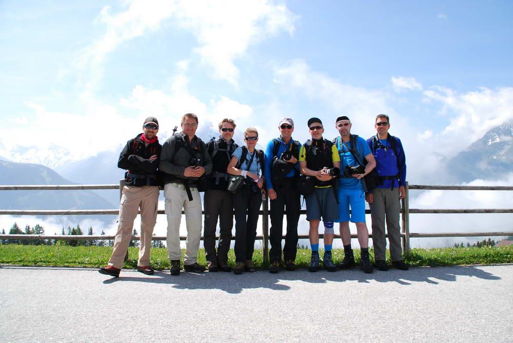 Das Cameratrekking-Team im Zillertal